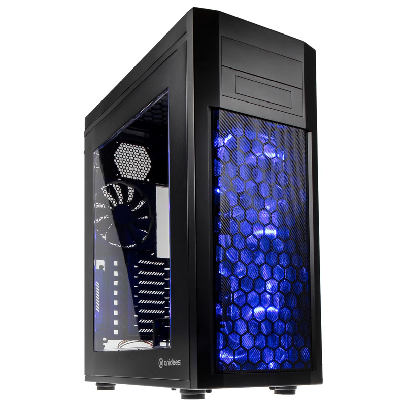 Anidees AI-08B Full Tower Case - Black Window